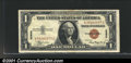 Small Size:World War II Emergency Notes, Fr. 2300 $1 1935A Hawaii Silver Certificate. About Uncirculat...