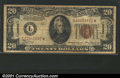 Small Size:World War II Emergency Notes, Fr. 2305* $20 1934A Hawaii Federal Reserve Note. Very Fine....