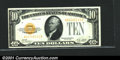 Small Size:Gold Certificates, Fr.2400 $10 1928 Gold Certificate. Choice Crisp Uncirculated....