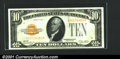 Small Size:Gold Certificates, Fr. 2400 $10 1928 Gold Certificate. Choice Crisp Uncirculated...