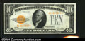 Small Size:Gold Certificates, Fr. 2400 $10 1928 Gold Certificate. Choice About Uncirculated...
