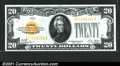 Small Size:Gold Certificates, Fr. 2402 $20 1928 Gold Certificate. About Uncirculated. ...