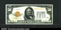 Small Size:Gold Certificates, Fr.2404 $50 1928 Gold Certificate. Choice Crisp Uncirculated....