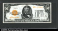 Small Size:Gold Certificates, Fr. 2404 $50 1928 Gold Certificate. Choice About Uncirculated...
