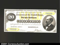 Large Size:Demand Notes, Fr. 1177 $20 1882 Gold Certificate Face and Back Proofs. Th...