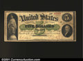 Large Size:Demand Notes, Fr. 2 $5 1861 Demand Note Very Good-Fine. A solid no proble...