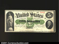 Large Size:Demand Notes, Fr. 3 $5 1861 Demand Note Extremely Fine. This Boston Deman...