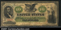 Large Size:Demand Notes, Fr. 8 $10 1861 Demand Note Very Good-Fine. A very respectab...