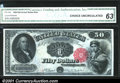 Large Size:Legal Tender Notes, Fr. 164 $50 1880 Legal Tender CGA Choice Uncirculated 63 Ne...