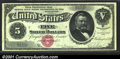 Large Size:Silver Certificates, Fr. 259 $5 1886 Silver Certificate Superb Gem New. This Ros...