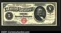 Large Size:Silver Certificates, Fr. 260 $5 1886 Silver Certificate Superb Gem New. This Sma...