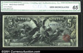 Large Size:Silver Certificates, Fr. 268 $5 1896 Silver Certificate CGA Gem Uncirculated 65....