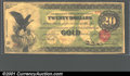 Large Size:Gold Certificates, Fr. 1166b $20 1863 Gold Certificate Extremely Fine-About New....