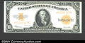 Large Size:Gold Certificates, Fr. 1173 $10 1922 Gold Certificate Very Choice New. A beaut...