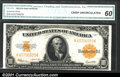 Large Size:Gold Certificates, Fr. 1173 $10 1922 Gold Certificate CGA Crisp Uncirculated 60....
