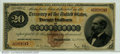 Large Size:Gold Certificates, Fr. 1174 $20 1882 Gold Certificate Fine. A truly rare numbe...