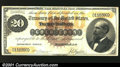 Large Size:Gold Certificates, Fr. 1177 $20 1882 Gold Certificate Fine-Very Fine. About tw...