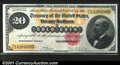 Large Size:Gold Certificates, Fr. 1178 $20 1882 Gold Certificate Superb Gem New. A fabulo...