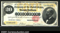 Large Size:Gold Certificates, Fr. 1178 $20 1882 Gold Certificate Very Fine. Well margined...