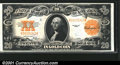 Large Size:Gold Certificates, Fr. 1187 $20 1922 Gold Certificate Choice About New. Deep g...