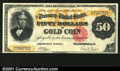 Large Size:Gold Certificates, Fr. 1193 $50 1882 Gold Certificate Superb Gem New. This one...