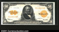 Large Size:Gold Certificates, Fr. 1200 $50 1922 Gold Certificate Superb Gem New. Broad, e...
