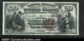 National Bank Notes:Kentucky, Louisville, KY - $20 1882 Brown Back Fr. 501 The Citizens...