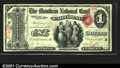 National Bank Notes:Missouri, California, MO - $1 Original Fr. 382 The Moniteau NB Ch...