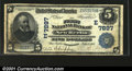 National Bank Notes:Pennsylvania, New Berlin, PA - $5 1902 Plain Back Fr. 599 The First NB...