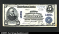 National Bank Notes:Tennessee, Harriman, TN - $5 1902 Plain Back Fr. 608 First NB Ch. ...