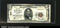National Bank Notes:Wisconsin, Fennimore, WI - $5 1929 Ty. 1 The First NB Ch. # 9522...