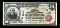National Bank Notes:Virginia, Richmond, VA - $10 1902 Red Seal Fr. 613 The First NB Ch. #(S)1111. ...