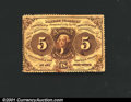 Fractional Currency:First Issue, First Issue 5c, Fr-1229, XF. A few minor stains are present on ...