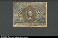 Fractional Currency:Second Issue, Second Issue 10c, Fr-1246, AU. A nearly New note with a few pin...