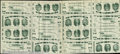 Miscellaneous:Other, An uncut sheet of 16 Giori test notes, XF. This sheet of Giori ...