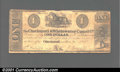 Obsoletes By State:Ohio, 1840 $1 Cincinnati & Whitewater Canal Co., Cincinnati, OH,VG+....