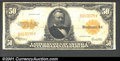 Large Size:Gold Certificates, 1922 $50 Gold Certificate, Fr-1200, Fine-VF. An attractive larg...