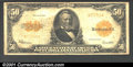 Large Size:Gold Certificates, 1922 $50 Gold Certificate, Fr-1200a, Fine. A nice circulated ex...