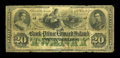 Canadian Currency: , Charlotte Town, PEI- The Bank of Prince Edward Island $20 Jan. 1,1872 Ch. # 600-12-16R. ...