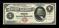 Large Size:Silver Certificates, Fr. 260 $5 1886 Silver Certificate Very Fine....