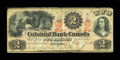 Canadian Currency: , Toronto, CW- The Colonial Bank of Canada $2 May 4, 1859 Ch. #130-10-04-04. ...