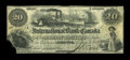 Canadian Currency: , Toronto, CW- The International Bank of Canada $20 June 1, 1859 Ch. # 380-12-04. ...