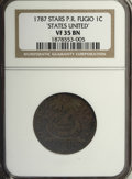 Colonials, 1787 1C Fugio Cent, STATES UNITED, Eight-Pointed Stars VF35 NGC....