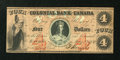 Canadian Currency: , Toronto, CW- The Colonial Bank of Canada $4 May 4, 1859 Ch. #130-10-04-08. ...