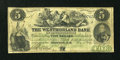 Canadian Currency: , Moncton, NB- The Westmorland Bank $5 Aug. 1, 1861 Ch. # 800-12-06a....