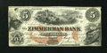 Canadian Currency: , Elgin, PC- The Zimmerman Bank $5 Aug. 10, 1859 Ch. # 815-12-06-06RRemainder. ...