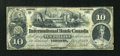 Canadian Currency: , Toronto, CW- The International Bank of Canada $10 June 1, 1859 Ch.# 380-12-02. ...