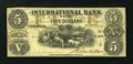 Canadian Currency: , Toronto, CW- The International Bank $5 September 15, 1858 Ch. #380-10-08-14. ...