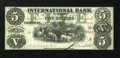 Canadian Currency: , Toronto, CW- The International Bank $5 September 15, 1858 Ch. # 380-10-06-16. ...