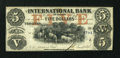 Canadian Currency: , Toronto, CW- The International Bank $5 September 15, 1858 Ch. #380-10-10-16a. ...